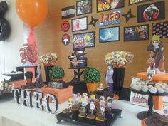 Naruto Birthday, 2nd Birthday, Birthday Ideas, Naruto Party Ideas, Grad Parties, Birthday Parties, Dragon Ball, Naruto Uzumaki, Quinceanera