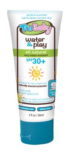 TruBaby Water and Play SPF 30 Plus WaterResistant UVAUVB Sunscreen Lotion Unscented 2 Ounce >>> Click image for more details.