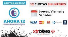 Este jueves agendate para venir a xtr bikes! 12 cuotas sin interes con el plan AHORA 12! #mtb #mountainbike #ciclismo #bicicleta