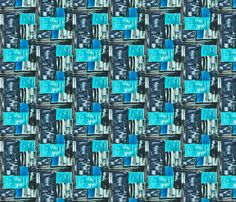 Mid Century Icy Blue  design by Hollywood Royalty  at Spoonflower. Mid Century - Retro - Vintage style designs  Available as Wallpaper, Gift Wrap and Fabric just click on the visit button.