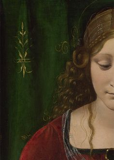 paintingses:  The Virgin and Child (detail) by Giovanni Antonio Boltraffio (about 1467-1516) oil on panel, c. 1493-9