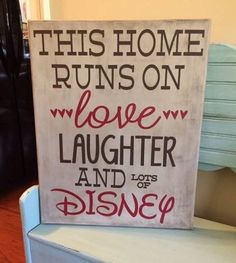 This is a fantastic sign to have in your home to show your Disney love! These signs can come in canvas or a wood canvas or canvas sheet. Please