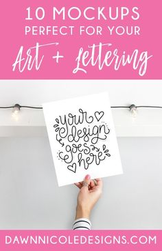 10 Mockups Perfect for Sharing Your Art + Lettering