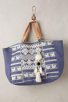 Takahe Embroidered Tote - anthropologie.com #anthrofave #anthropologie