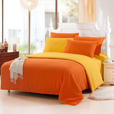 Orange Bed Linen Set Promotion For Promotional Orange Bed Linen, Black Bed Linen, Twin Size Bed Sheets, Bed Sheet Sets, Cheap Bedding Sets, Luxury Bedding Sets, Cheap Bed Linen, Toddler Girl Bedding Sets, Matching Bedding And Curtains