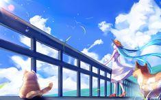 Télécharger fonds d'écran Hatsune Miku, 4k, les chiens, les cheveux bleus, les mangas, les Vocaloid