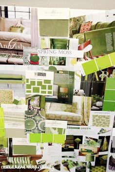 Ballard Designs mood board - green