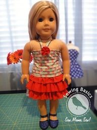 18 doll clothes patterns free printable - Google Search