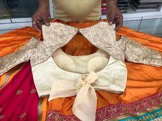 Blouse des Lengha Blouse Designs, Choli Designs, Fancy Blouse Designs, Saree Blouse, Designer Blouse Patterns, Dress Patterns, Designer Dresses, Stylish Blouse Design, Blouse Back Neck Designs