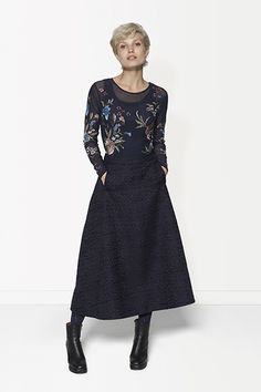 Winter - Lookbook   Fashion   A-line Skirt   Structured   Photography   Blouse   See-Through   Flower Print