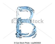 Stock Illustration - B letter water - stock illustration, royalty free illustrations, stock clip art icon, stock clipart icons, logo, line art, pictures, graphic, graphics, drawing, drawings, artwork