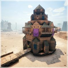 Link to my current Survey regarding a Server Today we will be building this beauty! The reason i came up with that tower was, that I saw a lot of round boring towers on my current Server, i then we… Minecraft Blueprints, Minecraft Projects, House Blueprints, Architecture Building Design, Minecraft Architecture, Rust Base Design, Base Building, Building Ideas, Building Games