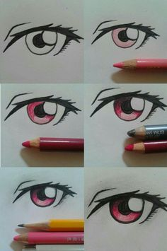 Manga Drawing Ideas I made somewhat crappy eye tutorial, i hope it can help a little bit Drawing Lessons, Drawing Techniques, Drawing Tips, Drawing Sketches, Sketching, Drawing Ideas, Realistic Eye Drawing, Manga Drawing, Manga Art