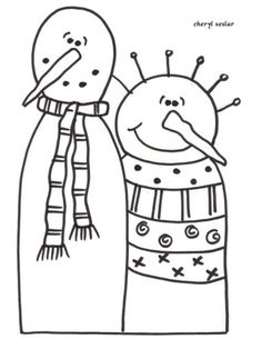 The Snowflakes Snowman Family and Tons of free cute coloring pages!