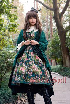 --New Release: [-❅✿☃-Surface Spell ~Winter Rose Garden~ JSK-❅✿☃-] --[-✂-Customizable-✂-] >>> http://www.my-lolita-dress.com/surface-spell-winter-rose-garden-false-two-pieces-lolita-jsk-ssp-97