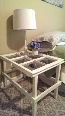 Window Pane Table, it would be cool to make it a coffee table