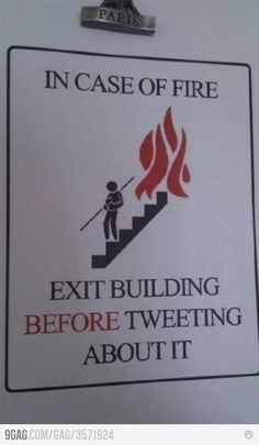 Pas twitteren wanneer je buiten bent.