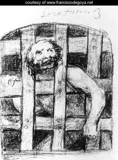 A Lunatic behind Bars - Francisco De Goya y Lucientes - www.franciscodegoya.net