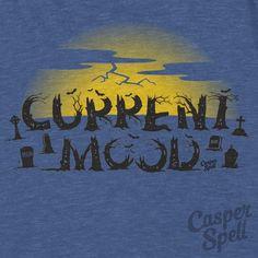 Halloween TShirt Apparel Current Spooky Mood Cemetery Thunderstorm Art Casper Spell (www.CasperSpell.com)