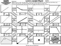 Line and Angle Geometry Maze Activity