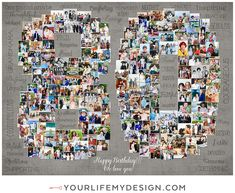 Heart Collage, Photography Collage, Milestone Birthdays, 80th Birthday, My Portfolio, Birthday Photos, Your Life, Collages, My Design