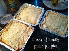 Freezer meals: freezer friendly pizza pot pies #freezercooking #freezermeals