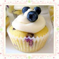 Blueberry Lemon Cupcakes with Lemon Cream Cheese Frosting by A Hint Of Honey
