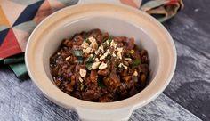 Potato and Pork Stew with Peanut Sauce Pork Stew, Chilli Paste, Steamed Rice, Best Chef, Non Stick Pan, Peanut Sauce, Slow Food, Fresh Herbs, Pork Recipes