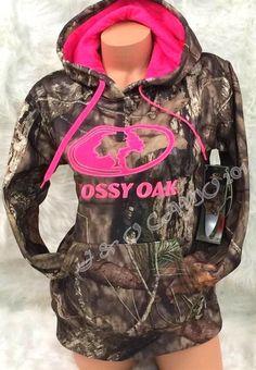 NEW! Women's Mossy Oak Camo HOT PINK Performance Pullover Hoodie S M L XL 2XL #MossyOak #Hoodie
