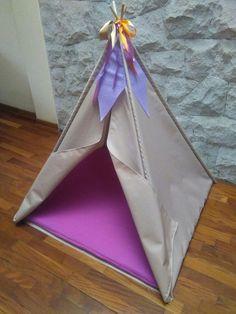tepee para niña, 1,15 de alto, 1 metro por lado, madera, loneta,espuma, lindo diseño de 10arstudio...precio..45 usd...a10artstudio@hotmail.com