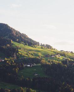 I'm going to miss these green rolling hills of the Alps.  @visitaustria @visitvorarlberg #feelaustria #visitvorarlberg by lebackpacker
