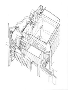 AD Classics: The Atheneum,Axonometric, Courtesy of Richard Meier & Partners Architects