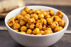 Happy Meatless Monday! These Asian Roasted Chickpeas are a quick healthy snack to eat on-the-go, or just to keep around the house for those salty cravings.