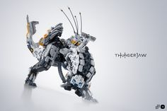 "https://flic.kr/p/VGALDt | Thunderjaw | Nicola Stocchi did it again...  He created another ultra mega jaw-dropping LEGO model of the coolest and most dangerous combat machine in the videogame Horizon - Zero Dawn.  ""That thing is huge; and built to fight."" ―Aloy, upon sighting a Thunderjaw  Don't miss my renders and admire the 3D model here!  #mecabricks #blender #render #3d    © 2017 - Nicola Stocchi & Gabriele Zannotti   This picture is not an official product of or endorsed"