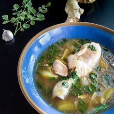 Chicken Tinola is an easy soup to prepare. Its a staple of Filipino cuisine with plenty of regional variations. Moringa, called Malunggay in the Philippines