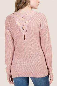 Paxton Lattice Back Pullover Sweater