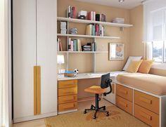 Orange Furniture Design in Small Bedroom Ideas