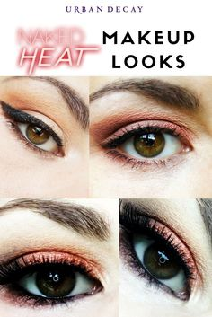 Makeup looks with the Urban Decay NAKED HEAT palette. I have a series continuing this week 7 eye makeup up looks in 7 days using the palette. check them out for Makeup look inspiration