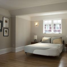 "Reminiscent of the majestic white oak, Benjamin Moore's Pale Oak OC-20 is part of Candice Olson's Designer Picks collection.""  ""Benjamin Moore ""Pale Oak"" OC-20 wall color"""