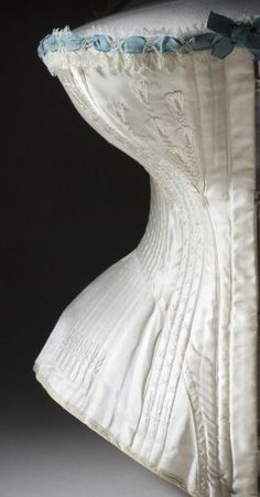 """edwardian-time-machine: """" Woman's Corset United States, circa 1895 Costumes; underwear (upper body) Silk satin and cotton twill, and boning with silk-thread embroidery and silk lace and ribbon trim. Source """" - buy lingerie online, women underwear lingerie, lingerie online *sponsored https://www.pinterest.com/lingerie_yes/ https://www.pinterest.com/explore/intimates/ https://www.pinterest.com/lingerie_yes/lingerie/ http://www.figleaves.com/us/lingerie/"""