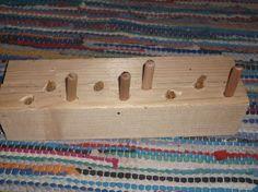 Fertiges Holzdübelspiel
