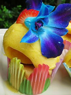 Sorbet Light Mango Passion Fruit Cupcakes made with SMIRNOFF SORBET ...