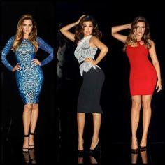 The famous Kardashian sisters Kim, Kourtney, and Khloe Kardashian launched their first clothing line for Sears, called Kardashian Kollection. Each Kardashian Kardashian Kollection, Kardashian Style, Kardashian Jenner, Kourtney Kardashian, Kardashian Clothing, Kardashian Fashion, Fashion 2020, Girl Fashion, Kim Khloe Kourtney