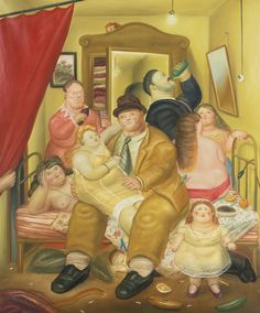 Fernando Botero - La Casa De Las Gemelas Arias - 1973