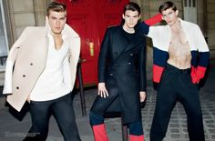 Male Fashion Trends: 'Fashion Power Collective': Editorial por Leslie Kee para Men's Uno China Agosto 2015