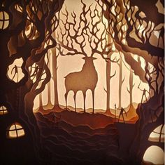 This cutout of the Forrest Spirit from <i>Princess Mononoke</i>: