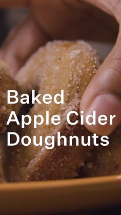 Fun Baking Recipes, Donut Recipes, Apple Recipes, Sweet Recipes, Cooking Recipes, Recipes For Desserts, Baking Desserts, Baking Ideas, Baked Apple Cider Doughnuts