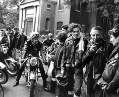 The Ton-Up Boys were a British biker subculture that started in the and were successors to theTeddy Boys in attitude, language and va. Easy Rider, Elvis Presley, Eddie Cochran, Go Ride, Biker Leather, Leather Jacket, Biker Style, Greaser Style, Biker Chic