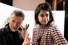 Artists at work, Leandra Medine and @barneysny legendary Simon Doonan, stars of Adventures in Beauty Vlogging   Man Repeller