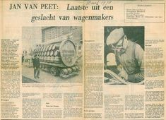 Krant van maart 1978: artikel over wagenmaker Jan van Peet.
